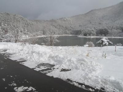北竜湖に冬到来