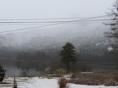 今朝の北竜湖